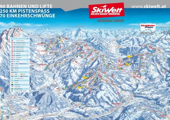 skiferie-østrig-westendorf-pistekort