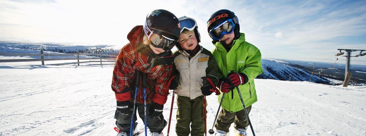 Børne-skiskole i maria alm